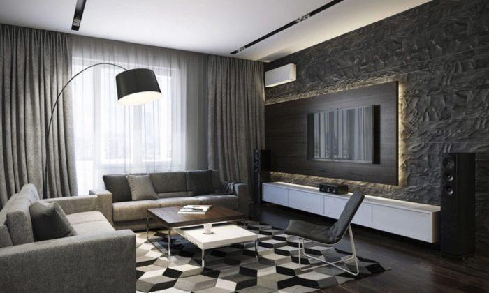 Современный вариант Арт-деко в гостиной