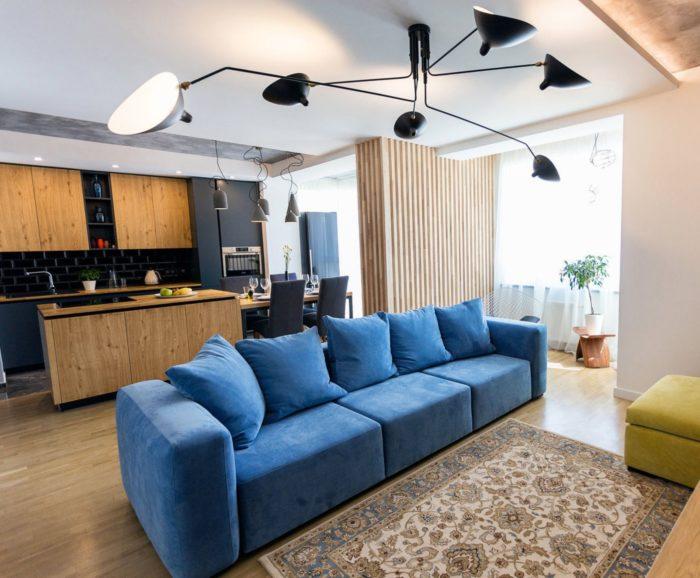 Современный дизайн квартиры-студии 2018