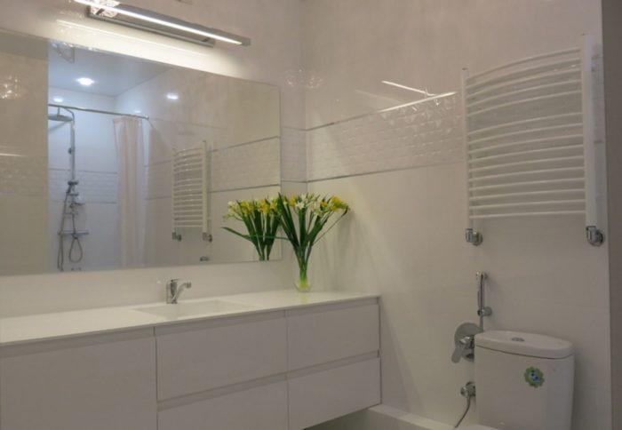 Современный дизайн совмещенной ванны