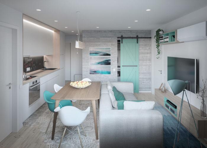 Современный дизайн студии в современном стиле