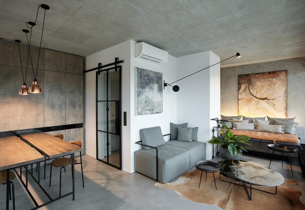 Современный лофт в небольшой квартире
