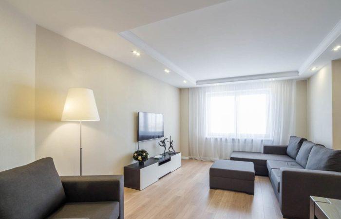 Современный простой дизайн интерьера гостиной