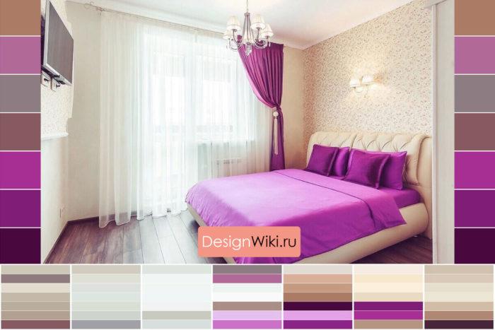 Сочетание цвета мебели и штор в интерьере