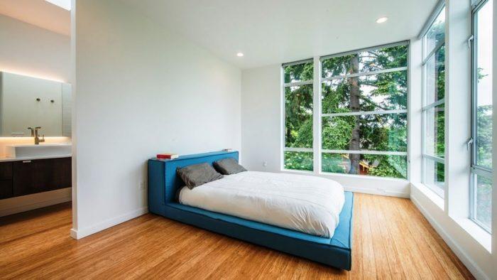 Спальня в стиле минимализм без двери