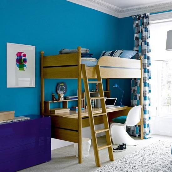 Спальня и детская школьника в одной комнате дизайн