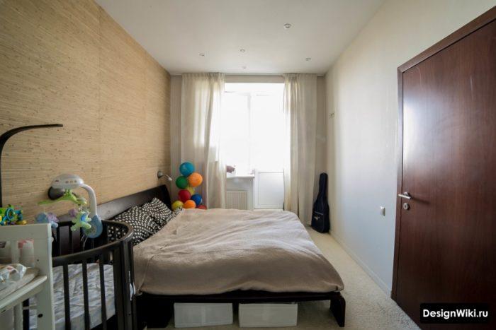 Спальня и детская в одной комнате в однокомнатной квартире