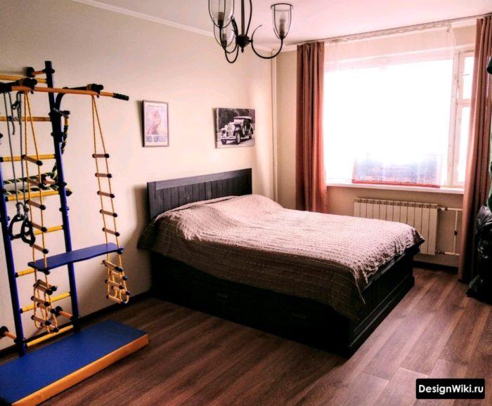 Спальня с детской игровой зоной