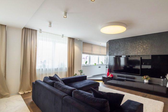 Стильный дизайн современной гостиной