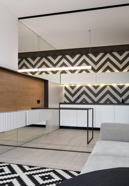 Ультра современный дизайн кухни-гостиной