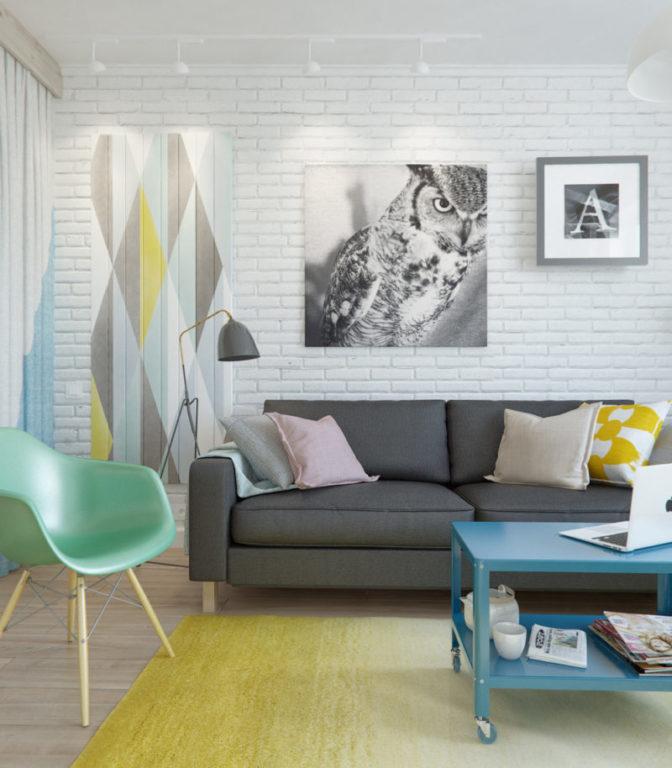 Цвета для дизайна маленькой гостиной