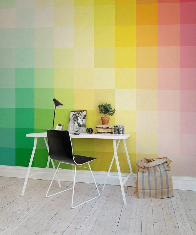 Яркие разноцветные обои