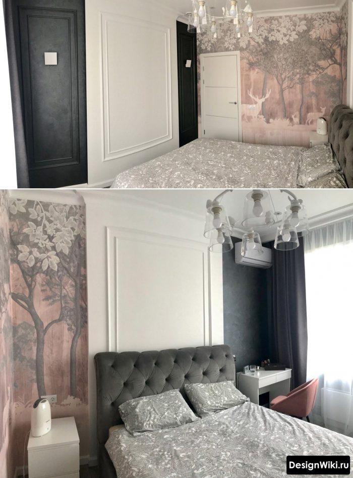 бледно розовый в спальне