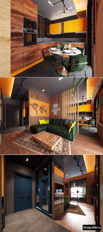 оранжевый цвет в современном интерьере