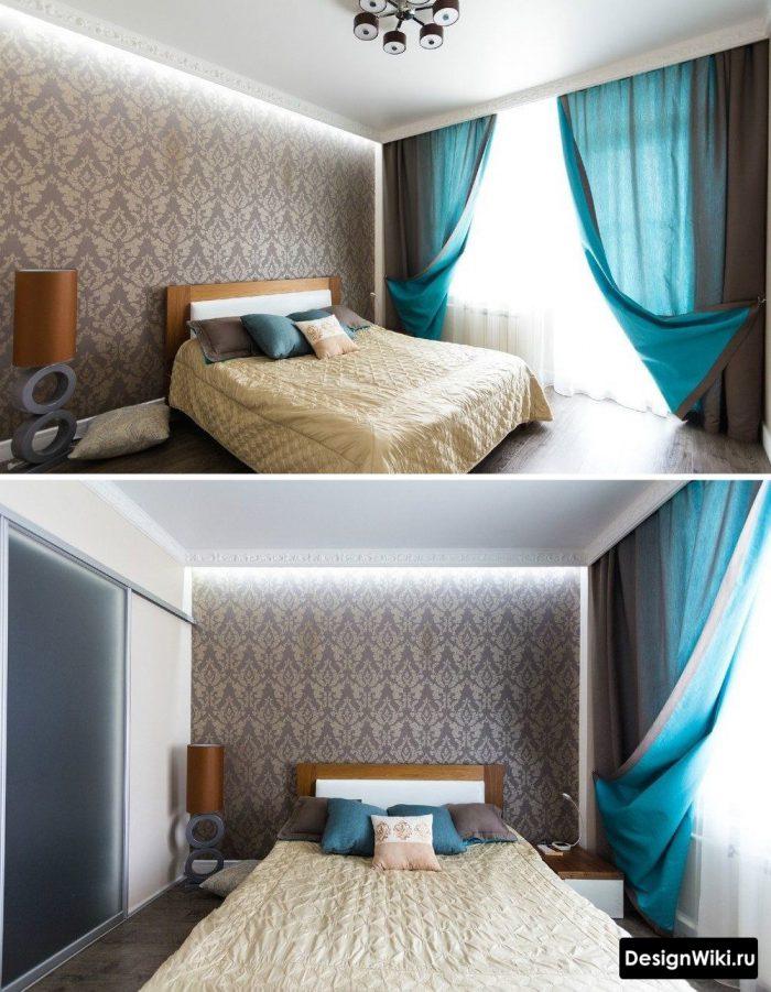 потолок с плинтусом в спальне