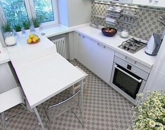 Барная стойка в кухне в хрущевке