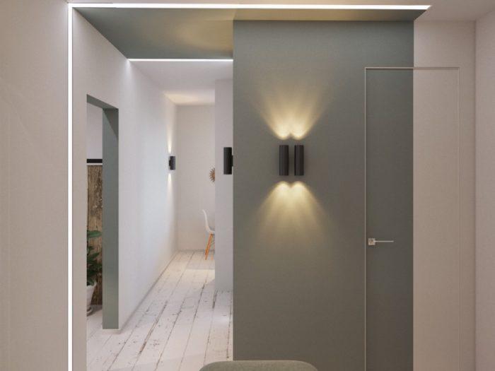 Белый пол в коридоре