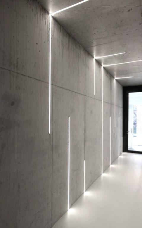 Бетонный коридор в стиле лофт