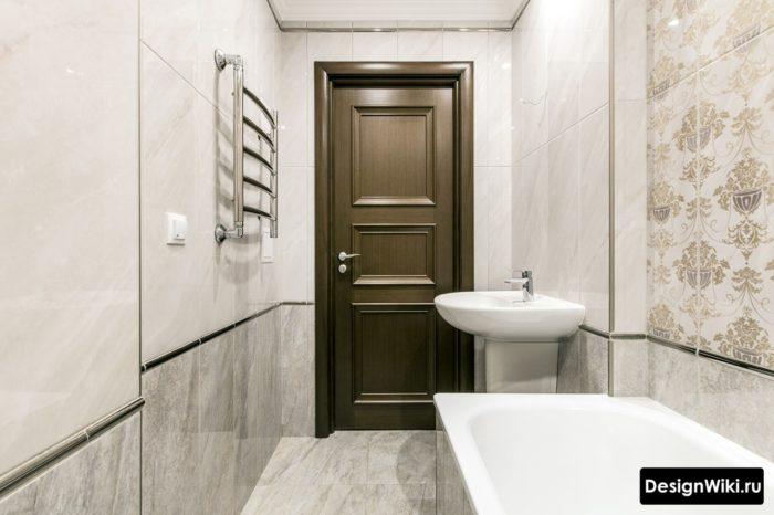 Вертикальная облицовка ванной плиткой