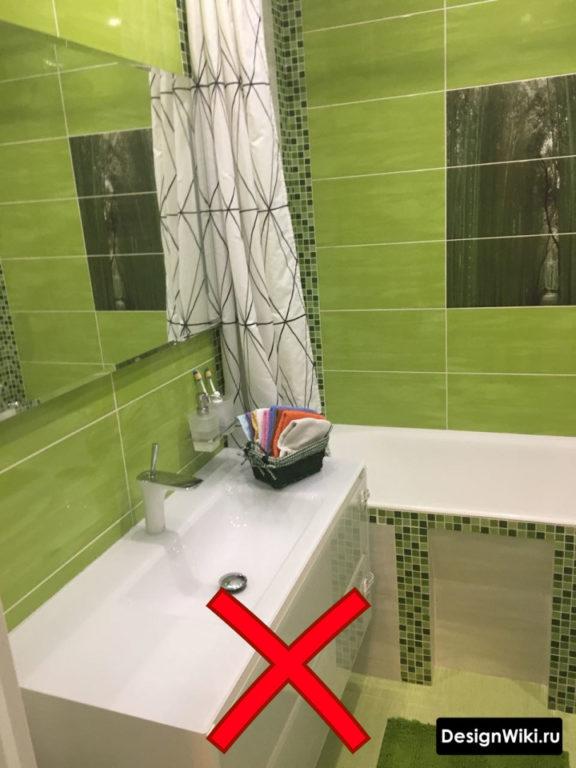 Глянцевая зелёная керамическая плитка для ванной