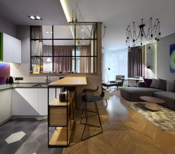 Дизайнерский ремонт в квартире-студии