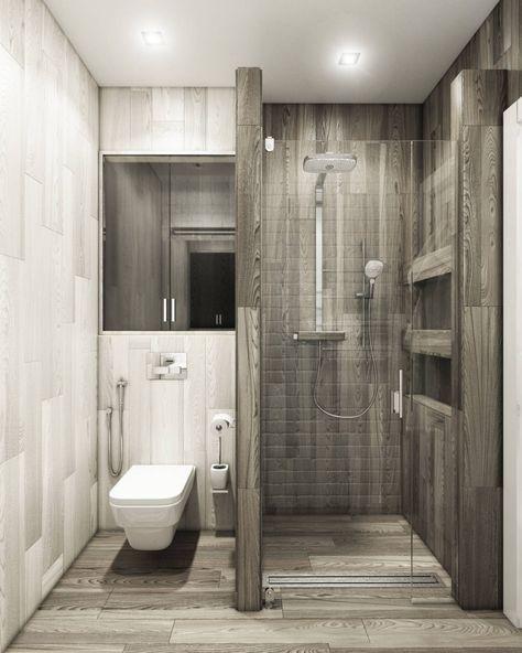 Дизайн ванной комнаты совмещенной с туалетом 3 кв.м