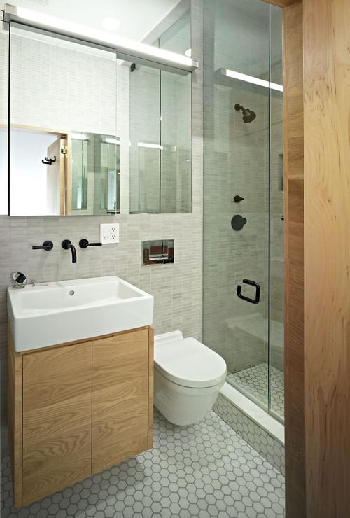 Дизайн ванной с туалетом и душевой
