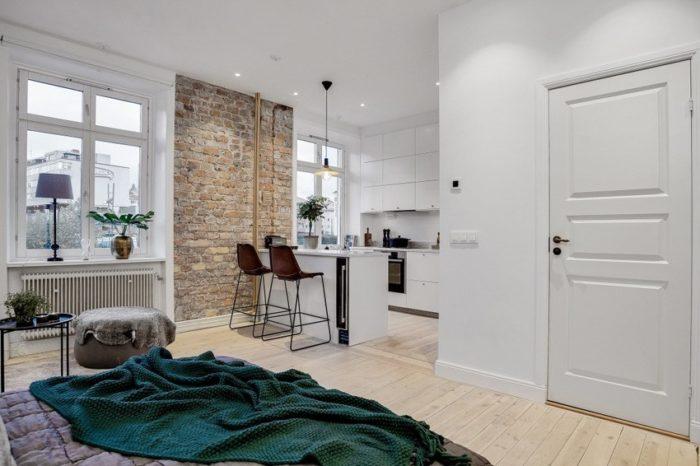 Дизайн квартиры-студии в сталинке