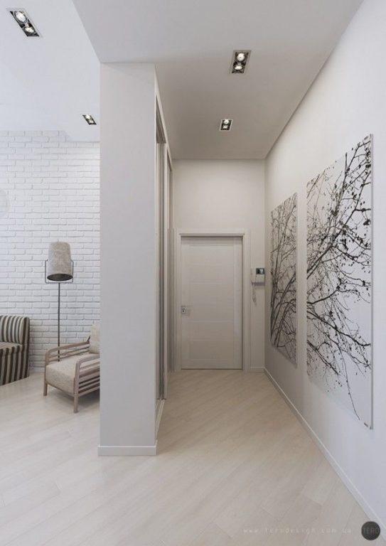 Дизайн коридора без двери в квартире