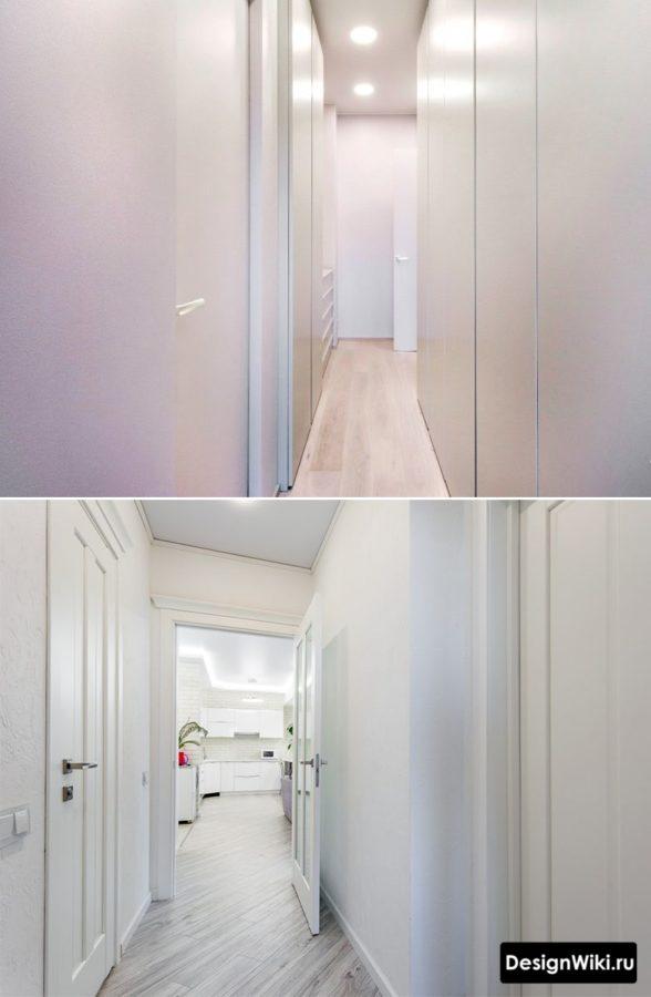 Дизайн коридора в квартире в белом цвете #интерьер #дизайн