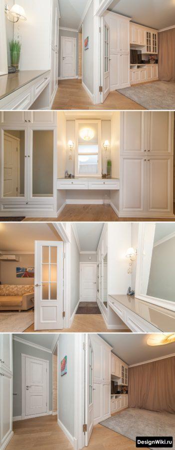 Дизайн коридора в квартире в стиле современная классика #интерьерквартиры #ремонтквартир
