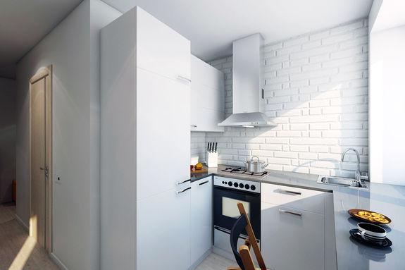 Дизайн кухни без двери в хрущевке