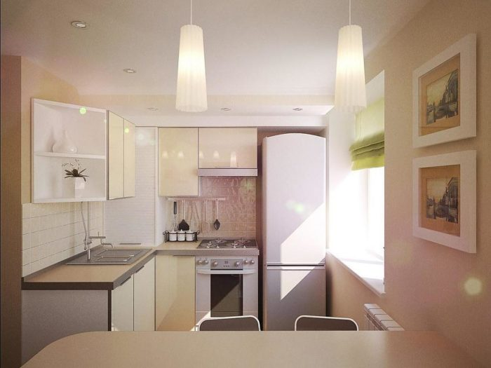 Дизайн кухни с газовой колонкой в хрущевке
