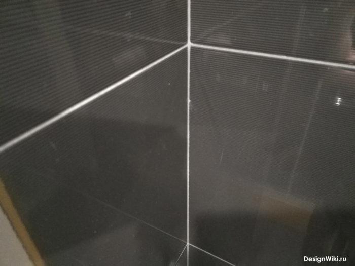 Затирка для чёрной глянцевой плитки