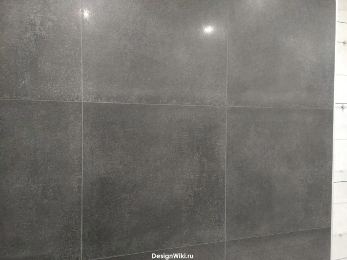 Затирка для чёрной плитки на стене