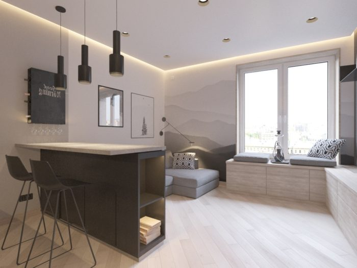 Идеи зоны хранения для квартиры-студии