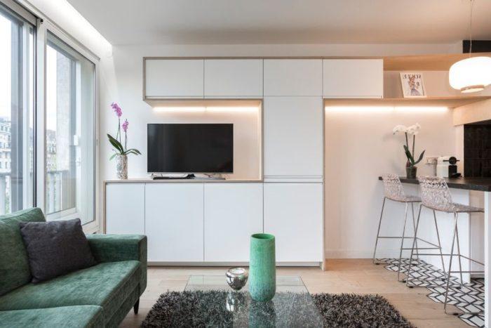 Идея мебели для квартиры-студии