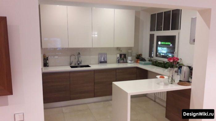 Интерьер маленькой кухни в современном стиле