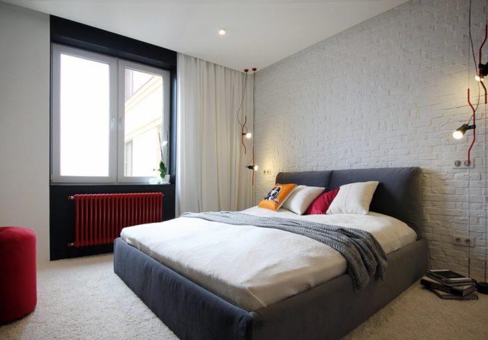 Интерьер спальни современный лофт