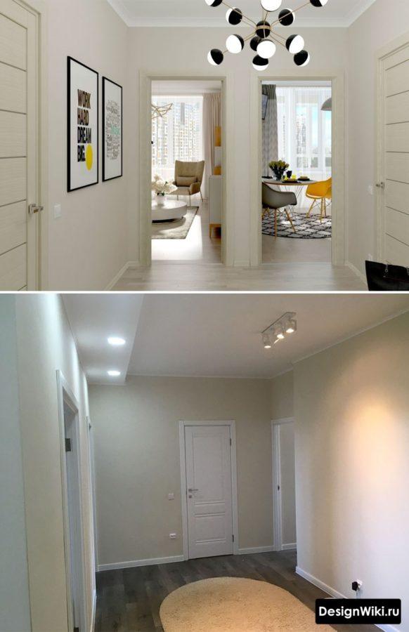 Квадратный коридор в квартире