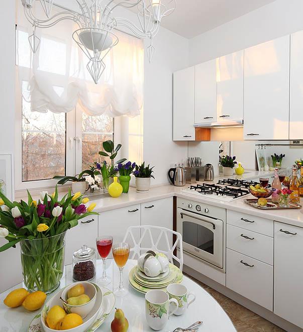 Классический дизайн в кухне в хрущевке