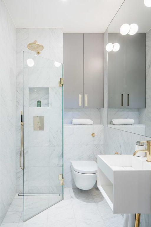 Классический дизайн совмещённой ванной с туалетом