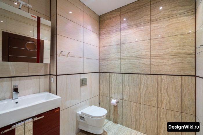 Коричневая затирка для плитки в ванной