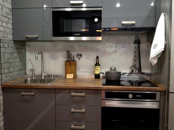 Кухня в квартире-студии для парня