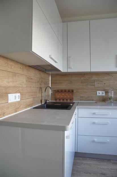 Кухня в стиле минимализм в хрущевке