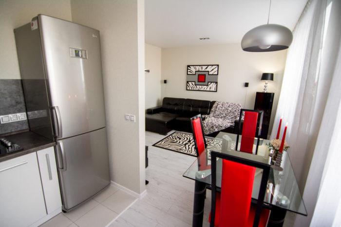 Кухня с гостиной в 1 комнате