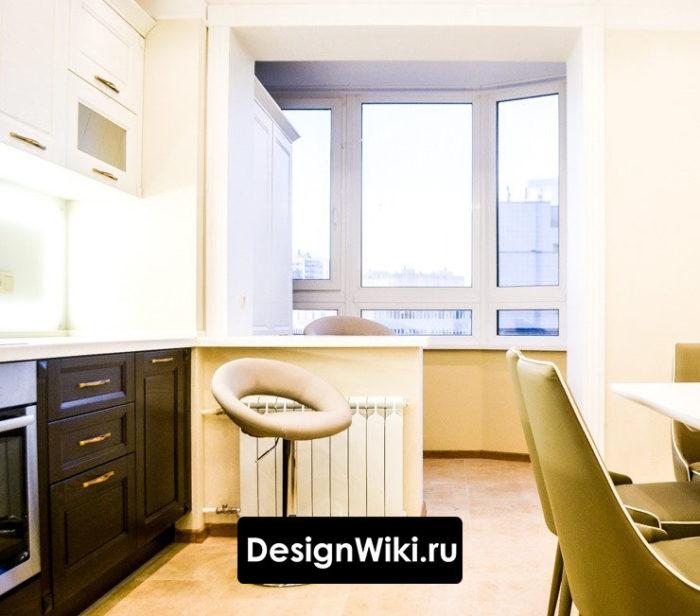 Маленькая кухня с балконом 10 м.кв