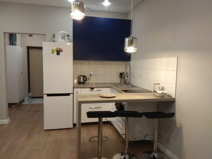 Маленький кухонный гарнитур для гостиной