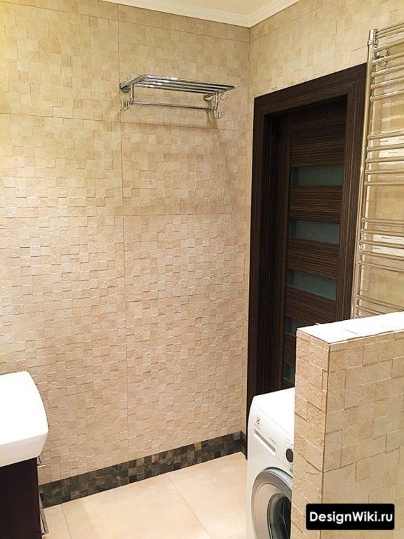 Матовая плитка пикселька в ванной