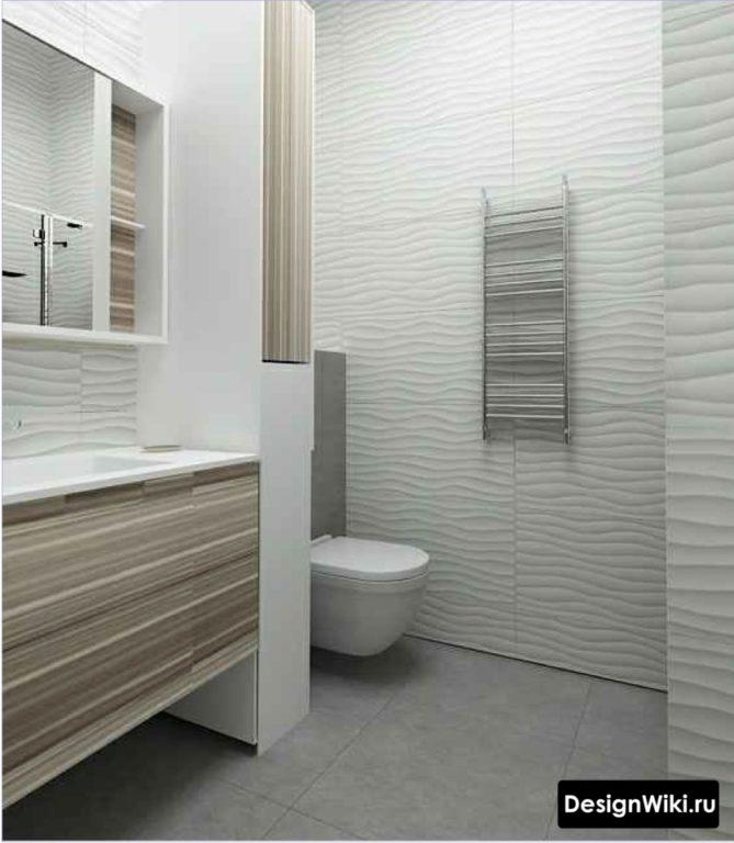 Минимализм дизайн плитки в ванной