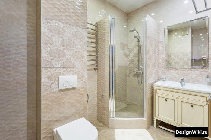 Модный дизайн плитки для ванной в квартире